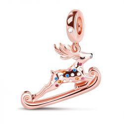 """""""Renna Natale"""" Charm Pendente In Argento Sterling"""