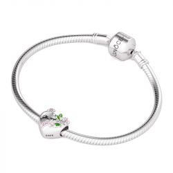 Forma Fiore Cuore Charm In Argento Sterling
