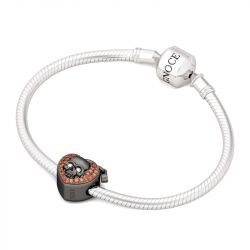 Forma Cuore Teschio Charm In Argento Sterling