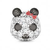 Panda Charm In Argento Sterling