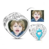 Cuore Foto Charm In Argento Sterling
